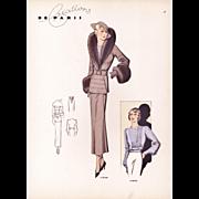 Original Art Deco Fashion Illustration Print