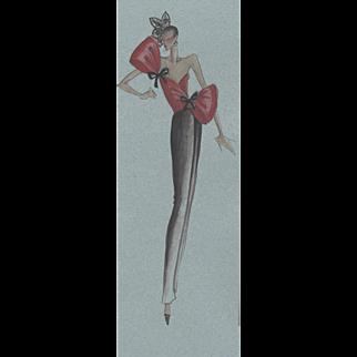 RARE-vintage Valentino fashion print