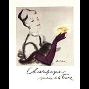 Original French Vintage Champagne alcohol print