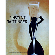 Original Vintage French Grace Kelly Champagne Advertisement Print