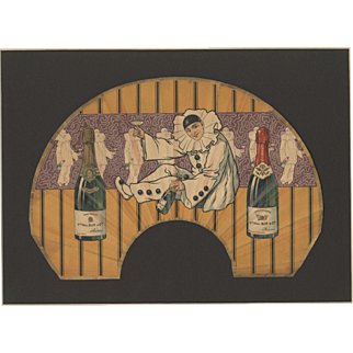 RARE Vintage Champagne Print