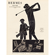 Hermes Art Deco  print for the woman who golfs!