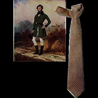 Mid-Century Hermes tie advertisement print