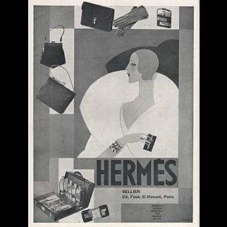 Original 1929 Art Deco Hermes print