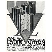 RARE!  Art Deco Louis Vuitton trunk advertisement print