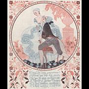Love- Vintage Art Deco print by Barbier