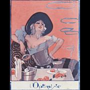 Vintage Art Deco sexy semi-nude print