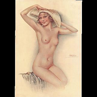 Art Deco Suzanne Meunier nude print