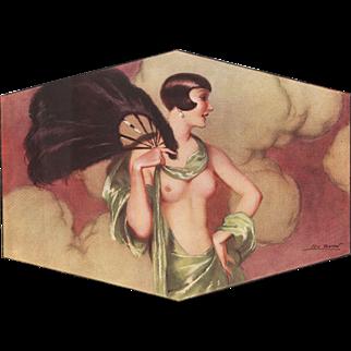 Rare Art Deco Erotic Nude print