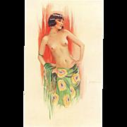 Erotic, Sexy Nude Art Deco Beauty