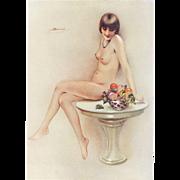 Erotic, sexy Art Deco nude