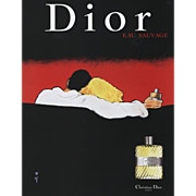 Original French Vintage Advertisement for For Christian Dior Eau Savage