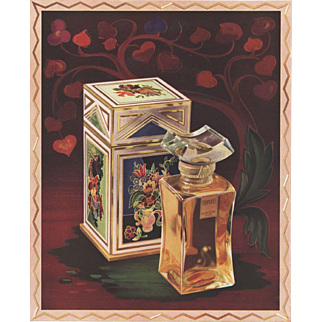 Beautiful Vintage Lancome Perfume Print