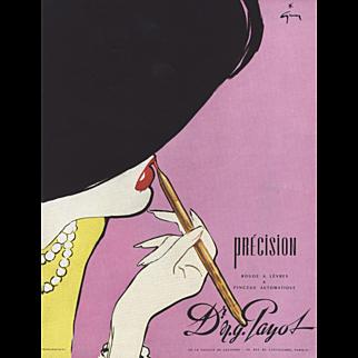 Sexy Lips! Vintage Makeup Advertising Art