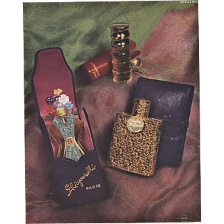 Original French Schiaparelli Perfume Advertising Print