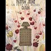 Vintage Caron Perfume Advertisement Print