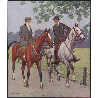 RARE vintage lithograph for the horse lover