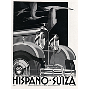 Art Deco Hispano-Suiza car print by Kow