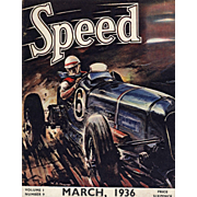 Original 1936 Vintage Racing Car Magazine Cover