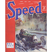 Original 1937 Vintage Racing Car Magazine Cover