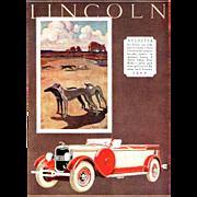 Vintage 1920's Art Deco Lincoln Automobile Print