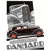Vintage French Art Deco automobile print