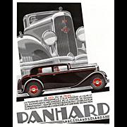 Vintage French Art Deco automobile print