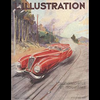 1936 Vintage Geo Ham Automobile Print