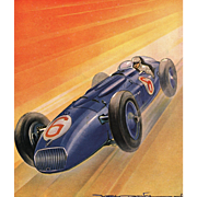 WOW! Mid-century Racing Car Print