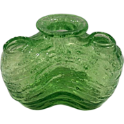 Phoenix Conslidated Green Glass Bud Vase