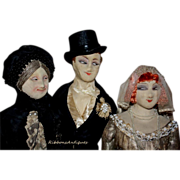 Stunning Luxurious French Wedding Farago Boudoir dolls