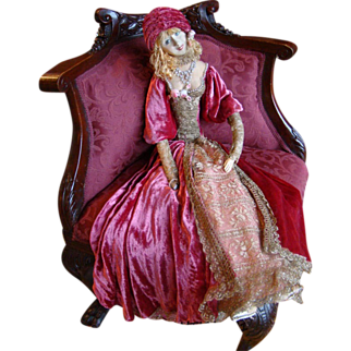 Rare Smiling Rosalinde French Boudoir Doll