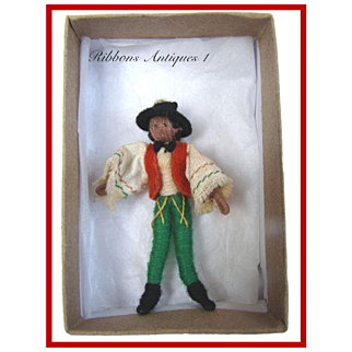 VERY RARE STEFANIA LAZARSKA'S A.A.P. fetishes/miniatures dolls from the early 20's. Mexican dancer. Creator and maker of Mme Padereski's dolls