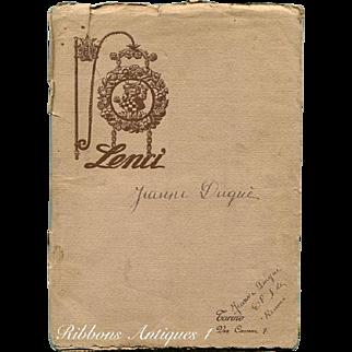 VERY RARE 1925 LENCI CATALOGUE  FROM PARIS INTERNATIONAL ART DECO EXHIBIT