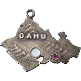 1940's Sterling Oahu Hawaii Charm