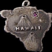 1940's Sterling Hawaii Charm