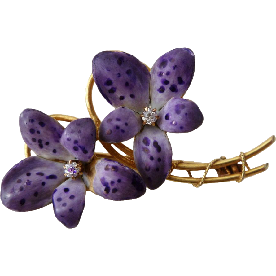 michaelmichaud african products untitled violet brooch