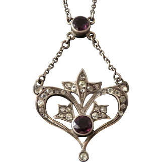 Antique Sterling Arts & Crafts Pendant Necklace