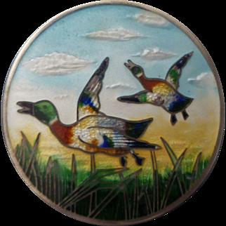 Paye & Baker Sterling & Enamel Duck Brooch