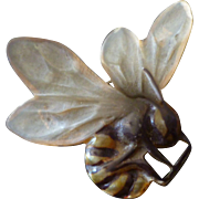 c.1900 Georges Pierre French Art Nouveau Horn Bee Brooch