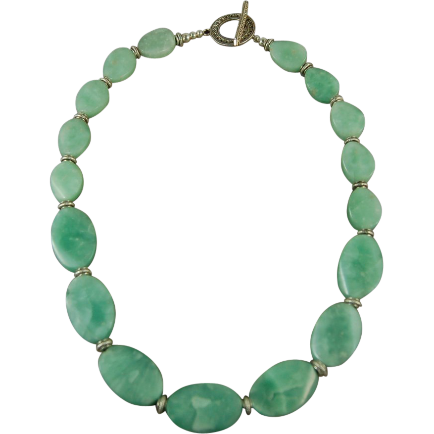 green amazonite necklace sold on ruby