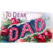 1900 embossed Father's Day card