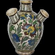 19th Century Persian Ceramic Iranian Qajar Tulip Vase