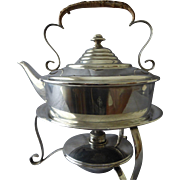 James Dixon JD&S Tea Kettle Silver Plate Antique English