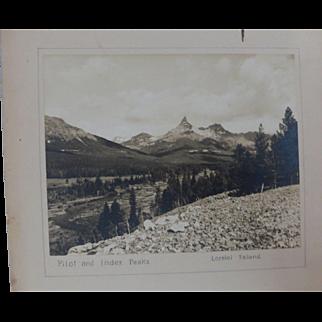 1930's Black & White Photo American View Wyoming Pilot & Index Peaks Lorelei Feland Signed Large