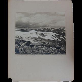 1939 Black & White American Photo Beartooth Mountains Wyoming Signed Lorelei Feland
