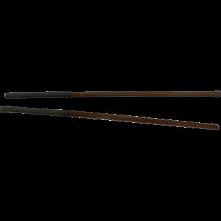 Pair of Antique Chinese Chopsticks Metal Cased