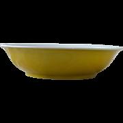 Chinese Porcelain Yellow Dish Guangxu Mark