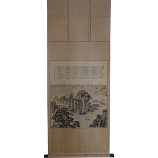 Vintage Chinese Scroll Painting Calligraphy Ode to the Red Cliff Su Dongpo 蘇軾Seals赤壁賦