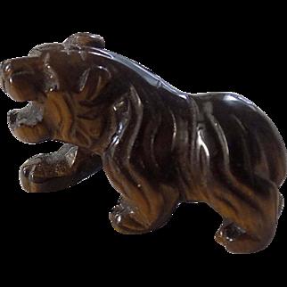 Vintage Chinese Tiger's Eye Tiger Figurine